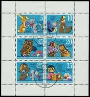 DDR BLOCK KLEINBOGEN Nr 1807-1812 Gestempelt KLEINBG X10DCDE - Blocks & Sheetlets