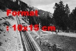 Reproduction Photographie Ancienne Du Chemin De Fer De Montagne Entre Brunnen Et Morschachà Schwyz En Suisse En 1905 - Reproducciones