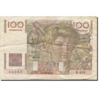 France, 100 Francs, Jeune Paysan, 1952, 1952-10-02, TB, Fayette:F28bis.1 - 1871-1952 Antiguos Francos Circulantes En El XX Siglo