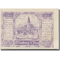 Billet, Autriche, Altenburg, 20 Heller, Eglise 1921-01-01, SPL, Mehl:FS 26b - Austria
