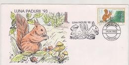 SQUIRREL Fauna  FDC COVER ROMANIA  SPECIAL POSTMARK -Philatelic EXHIBITION -SQUIRREL- Nature Protection - Andere