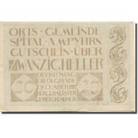 Billet, Autriche, Spital, 20 Heller, Usine, 1920, TTB, Mehl:FS 1007IIa - Austria