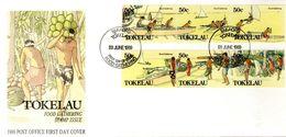 FDC 1989 - SERIE COMPLETE - LES ACTIVITES QUOTIDIENNES - - Tokelau