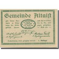 Billet, Autriche, Altaist, 10 Heller, Ferme, 1920, 1920-12-31, SPL, Mehl:FS 23a1 - Austria