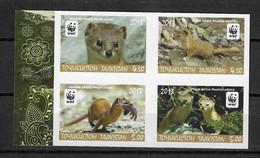 Tajikistan 2013 MiNr. 617 - 620  Tadschikistan Animals Mountain Weasel  WWF  4v  ND MNH** 30,00 € - W.W.F.