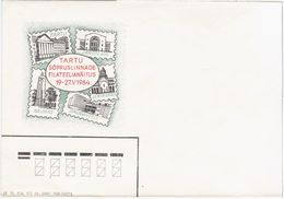 Estonia USSR 1984 Tartu, Stamp Exhibition, Kaunas Daugavpils Leninakan Gyumri Yaroslavl, Lithuania Armenia Russia Latvia - Estonia