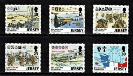 Jersey 1994 D-Day 50th Anniversary Set Of 6 MNH - Jersey