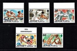 Jersey 1996 Olympic Games Marginal Set Of 5 MNH - Jersey