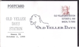 USA - 1999 - Cachets Spéciaux - Old Yeller Days - Mason TX - Cygnus - Cinema