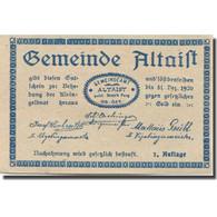 Billet, Autriche, Altaist, 10 Heller, Ferme, 1920, 1920-12-31, SPL, Mehl:F 23a1 - Austria