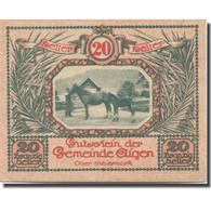 Billet, Autriche, Aigen, 20 Heller, Cheval, 1920, 1920-07-17, SPL, Mehl:FS 14b - Austria