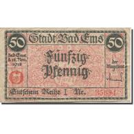 Billet, Allemagne, Bad Ems, 50 Pfennig, Paysage, 1920-12-31, TB Mehl:E19.4b - Germania