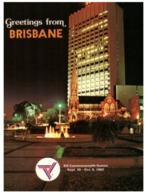 (C 11) Australia - QLD - Brisbane SGIO Building At Night / XII Commonwealth Games - Brisbane