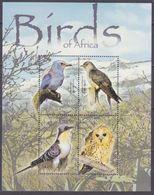 2004Lesotho1881-1884KLBirds 10,00 € - Songbirds & Tree Dwellers