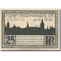 Billet, Allemagne, Paderborn, 25 Pfennig, Maison, 1921 SPL Mehl:1043.4 - Duitsland