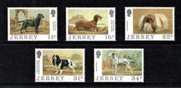 Jersey 1988 Dogs Set Of 5 Mint No Gum - Jersey