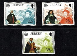 Jersey 1992 Europa Set Of 3 Mint No Gum - Jersey
