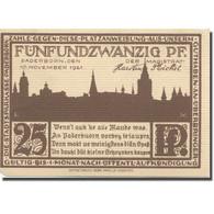 Billet, Allemagne, Paderborn, 25 Pfennig, Ruelle, 1921 SUP Mehl:1043.5 - Duitsland