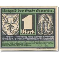 Billet, Allemagne, Genthin, 1 Mark, Personnage, 1921 SUP Mehl:419.2 - Duitsland