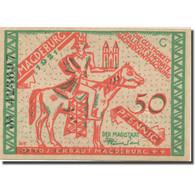 Billet, Allemagne, Magdeburg, 50 Pfennig, Chevalier, 1921, SPL, Mehl:857.1 - Duitsland