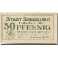 Billet, Allemagne, Siegburg, 50 Pfennig, Paysage, 1921, SPL Mehl:1225.3 - Duitsland