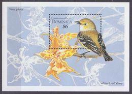 1995Dominica1970/B285Birds 6,00 € - Songbirds & Tree Dwellers