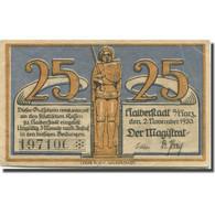 Billet, Allemagne, Halberstadt, 25 Pfennig, Chevalier, 1920 TTB Mehl:504.1a - Duitsland