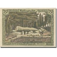 Billet, Allemagne, Fallingbostel, 70 Pfennig, Forêt, 1919 SPL Mehl:F3.2 - Duitsland