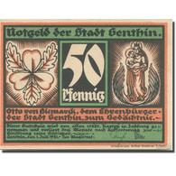 Billet, Allemagne, Genthin, 50 Pfennig, Personnage 1, 1921 SPL Mehl:419.2 - Duitsland