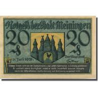 Billet, Allemagne, Meiningen, 20 Pfennig, Château, 1921 SPL Mehl:877.3 - Duitsland