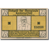 Billet, Allemagne, Kummerfeld, 75 Pfennig, Maison, 1921, SPL, Mehl:749.6a - Duitsland