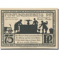 Billet, Allemagne, Paderborn, 75 Pfennig, Ville, 1921 SPL Mehl:1043.4 - Duitsland