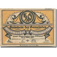Billet, Allemagne, Altenwerder, 50 Pfennig, Animal 1921-11-01, TTB Mehl:25.1b - Duitsland