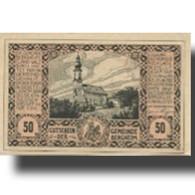 Billet, Autriche, Bergheim, 50 Heller, Eglise 1920-10-31, SPL Mehl:FS 82Ia - Austria
