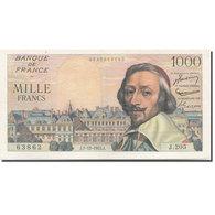 France, 1000 Francs, Richelieu, 1953, 1955-12-01, SUP+, Fayette:42.17, KM:134a - 1871-1952 Antiguos Francos Circulantes En El XX Siglo