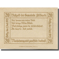 Billet, Autriche, Edlbach, 20 Heller, Blason 1921-07-01, SPL Mehl:FS 150a - Austria