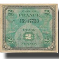 France, 2 Francs, Drapeau/France, 1944, 1944-06-06, TB+, Fayette:VF 16.01 - 1944 Vlag/Frankrijk