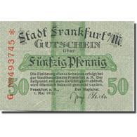 Billet, Allemagne, Frankfurt, 50 Pfennig, Blason, 1917 SUP Mehl:F16.1c - Duitsland
