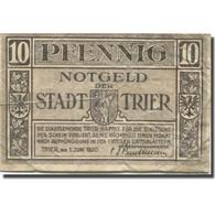 Billet, Allemagne, Trier, 10 Pfennig, Blason, 1920, 1920-06-01, TB, Mehl:T27.6a - Duitsland