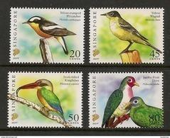 """Singapore 2007 Birds Definitives 20c, 45c, 50c & 80c With Imprint """"2007F"""" 4v MNH - Singapour (1959-...)"""