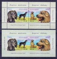 Kyrgyzstan 2020. Fauna. Kyrgyz Dogs. Taigan And Kindness (toothless Block + Tooth Block) - Kyrgyzstan