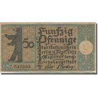 Billet, Allemagne, Berlin, 50 Pfennig, Ferme 1, 1921, 1921-09-09, SUP, Mehl:92.1 - Duitsland