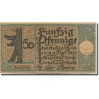 Billet, Allemagne, Berlin, 50 Pfennig, Ferme, 1921, 1921-09-09, TTB, Mehl:92.1 - Duitsland