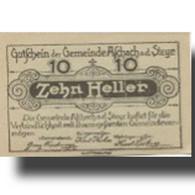 Billet, Autriche, Aschach, 10 Heller, Ferme, 1920, 1920-09-30, SPL, Mehl:FS 54a - Austria