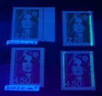 YT N° 3005a - 3007a - Sans Phosphore + Normal - Neufs ** - Cote: 75,00 € - 1989-96 Bicentenial Marianne