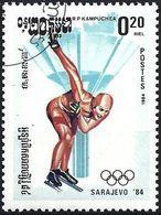 Kampuchea 1984 - Mi 538 - YT 449 ( Sarajevo Olympics : Speed Skating ) - Kampuchea