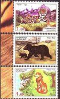 Tajikistan 2013 MiNr. 636 - 638  Tadschikistan Predators TIGER BEAR FOX ANIMALS 3v  MNH** 6,00 € - Tadjikistan