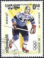 Kampuchea 1984 - Mi 539 - YT 450 ( Sarajevo Olympics : Ice Hockey ) - Kampuchea