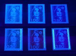 YT N° 2618a-2620a-2624a - Sans Phosphore + Normaux - Neufs ** - Cote: 70,00 € - 1989-96 Bicentenial Marianne