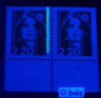 YT N° 2714a - Sans Phosphore Signé Calves Tenant à Normal - Neufs ** - Cote Maury: 85,00 € - 1989-96 Bicentenial Marianne